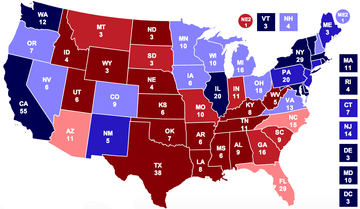 electoral college map 2010 - photo #4